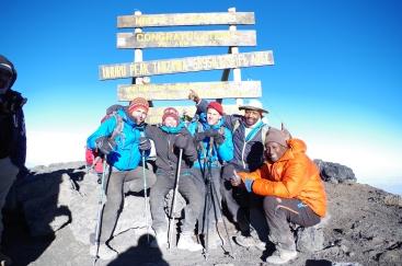 Au sommet à 5895m alt.