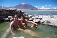 Après l'effort, le réconfort ! Un bain de 40 degrés à 4300m alt.